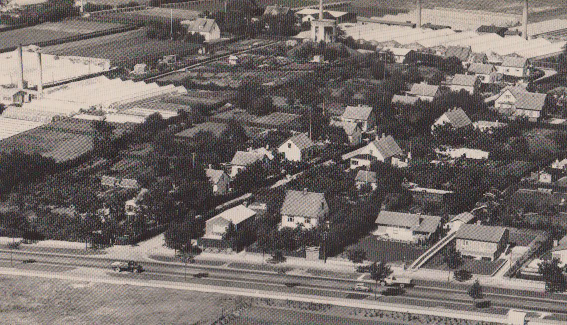 Udateret luftfoto fra vores område